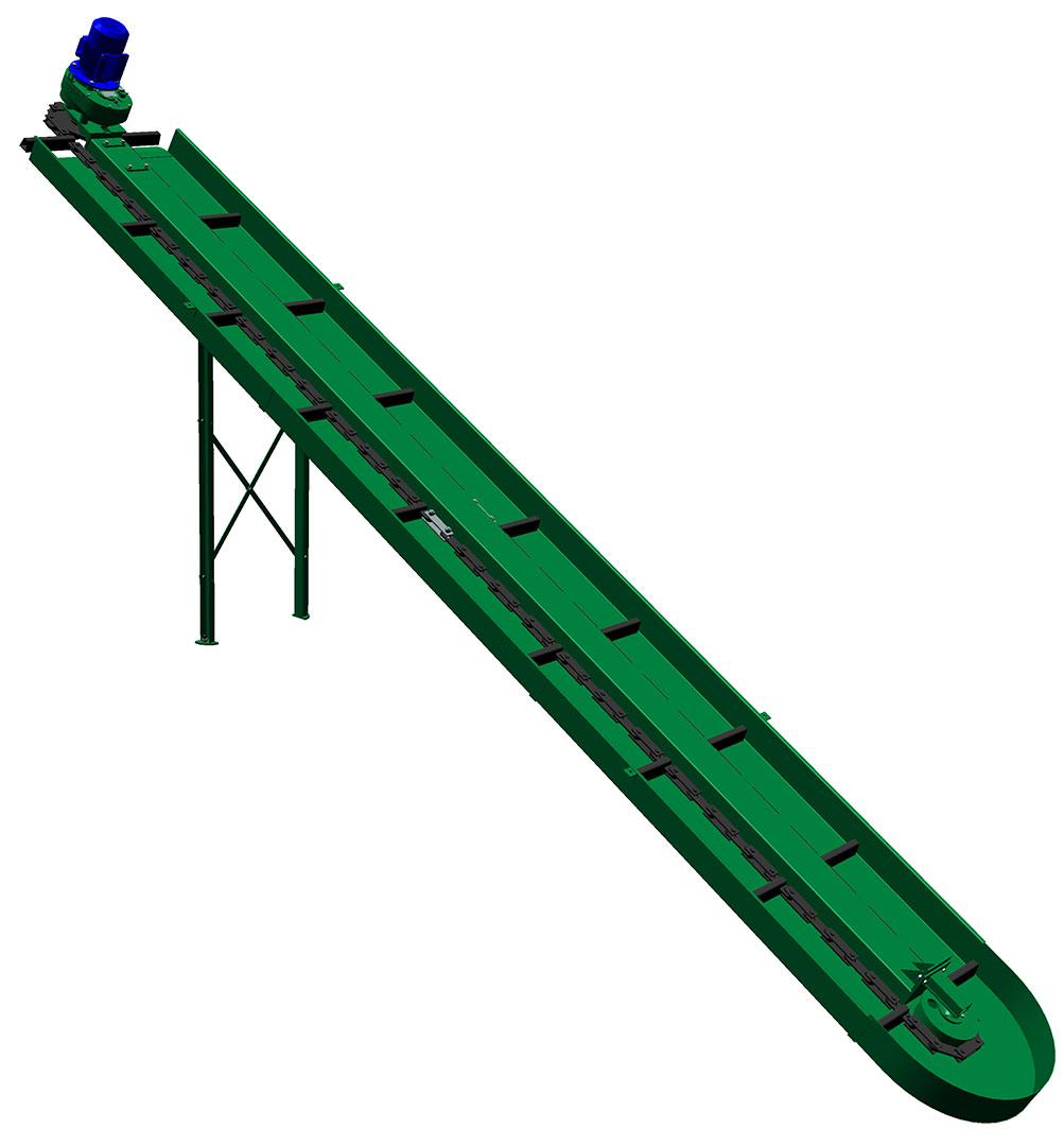 Навозоуборочный скребковый транспортер лента наклонных конвейеров