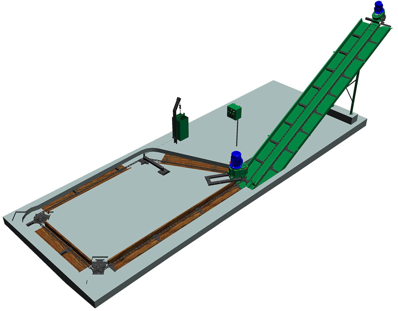Штанговый транспортер навозоудаления расходные материалы для конвейера
